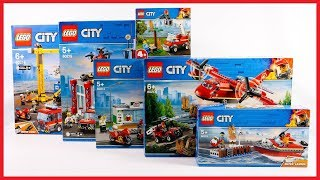 ALL LEGO CITY FIRE BRIGADE 2019 COMPILATION UNBOXING SPEED BUILD