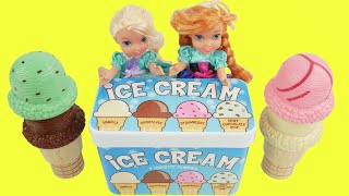 Ice cream toys for anna and elsa toddlers