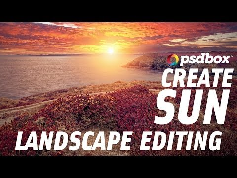 Landscape Editing - Create a sun with the Gradient Tool