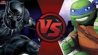 Black Panther vs Leonardo (Marvel vs TMNT)! CARTOON FIGHT NIGHT EPISODE 73!