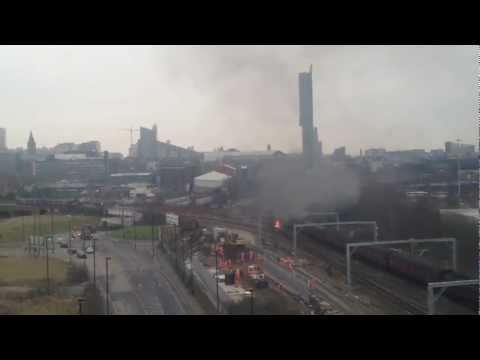 Train Fire in Salford