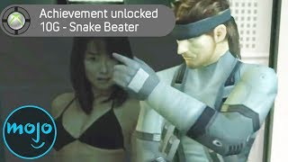 Top 10 Embarrassing Video Game Trophies & Achievements