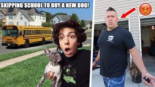 SKIPPING SCHOOL TO BUY A DOG! *not clickbait*