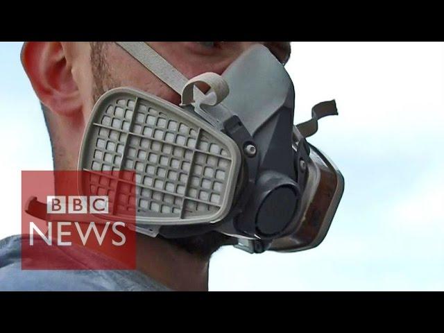 Donetsk's street artist paints Kiev - BBC News