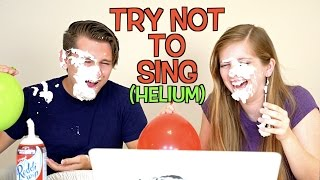 EXTREME TRY NOT TO SING CHALLENGE! (HELIUM EDITION)