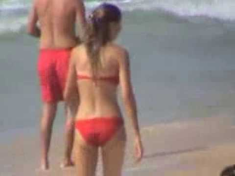 12 Hidden Camera Girl On Beach Walks With Red Bikini video