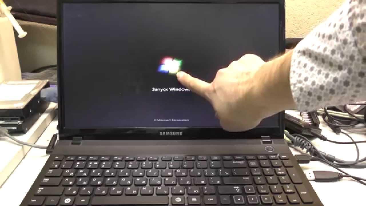 Делать фото при включении ноутбука
