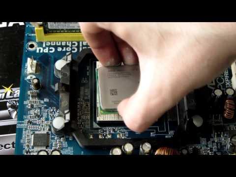 Замена термопасты и установка процессора