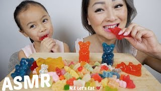 Assorted Gummy ASMR *No Talking Eating Sounds | N.E Let's Eat
