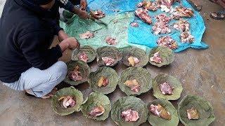 Nepali Village Palpa Koldanda    गाउँ घरमा बाख्रा यसरी काटेर बनाइन्छ    West Nepal Palpa