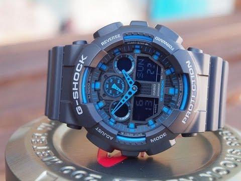 Casio G-SHOCK GA 100-1A2ER Unboxing + Review