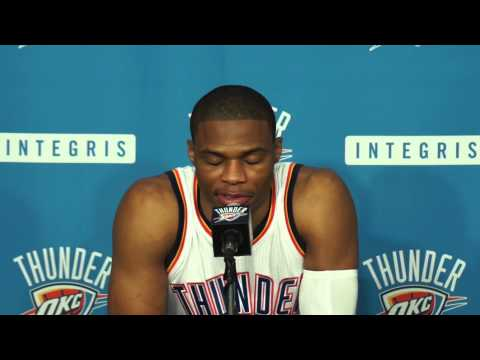 2014 Thunder Media Day With Russell Westbrook
