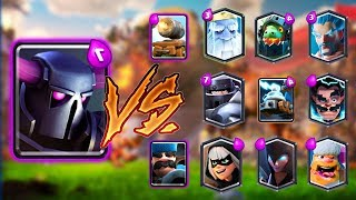 PEKKA VS ALL CARDS IN CLASH ROYALE | PEKKA 1 ON 1 GAMEPLAY