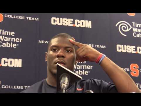 Syracuse football players Florida State post-game press conference : 10/31/15 - Zaire Franklin