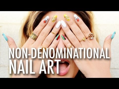 DIY Non-Denominational Nail Art