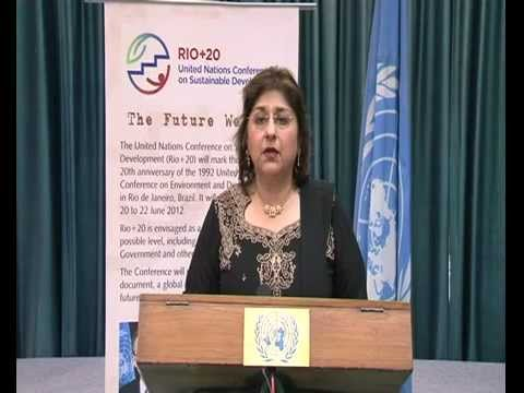 UNIC Director Mrs. Kiran Mehra - Kerpelman's message for MUNA on World Environment Day 2012