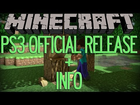 Minecraft: PS3 Edition OffIcial Release date Confriemd + Info On Texture Packs , Skin Pack
