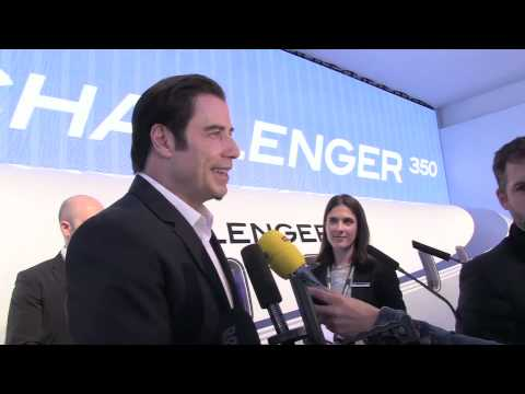 John Travolta stars for Bombardier for EBACE 2013