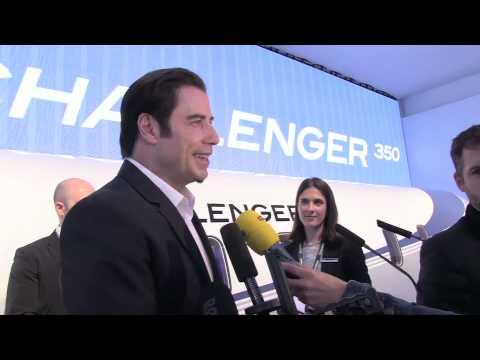 John Travolta stars for Bombardier for EBACE 2013