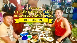 Cheap Eats Clark Freeport: Yu Ganne Car Guksoo Unlimited Samgyupsal Korean BBQ Restaurant