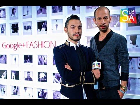 Rene Orozco en Google+Fashion con Alonso Murillo en Servicio De Agencia