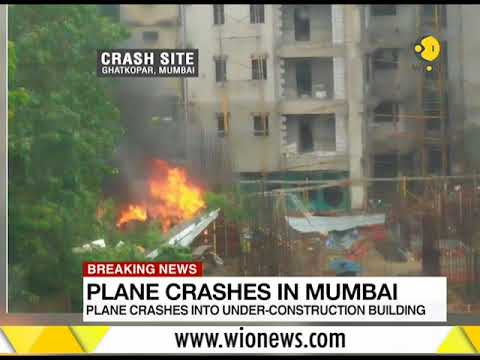 Breaking News: Chartered plane crashes into Mumbai construction site; 5 dead