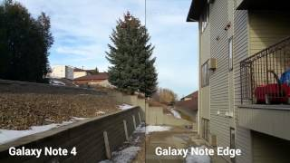 Galaxy Note 4 vs Note Edge 60fps video