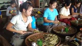 Cheroot Factory on Inle Lake in Myanmar