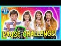 PAUSE CHALLENGE with other YOUTUBERS | ft. Taylor & Vanessa | We Are The Davises