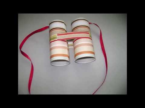 Cómo hacer  binoculares con tubos de papel higienico
