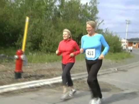 Kathy Dunderdale in Grand Falls-Windsor road race