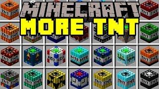 Minecraft MORE TNT MOD!   100+ TNT, NUKES, DYNAMITES, & MORE!   Modded Mini-Game
