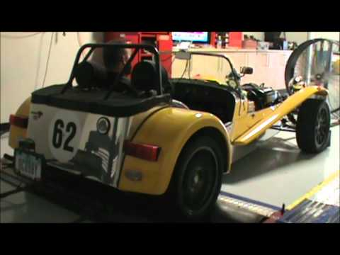 roadcourse car on dyno at RDP Motorsport