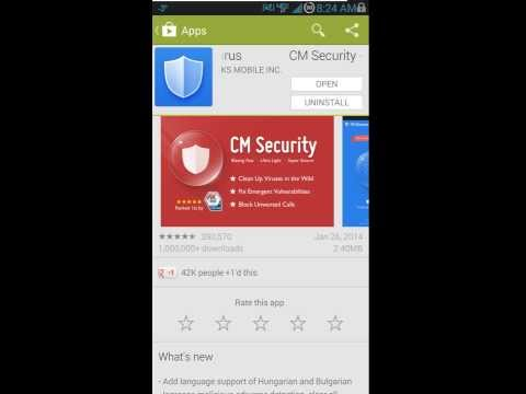CM (Clean Master) Android Security - Free Anti virus app