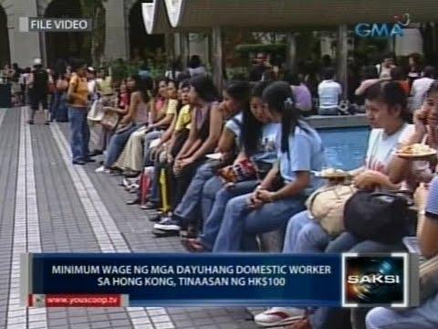 Saksi: Minimum wage ng mga dayuhang domestic worker sa Hong Kong, tinaasan ng HK$100