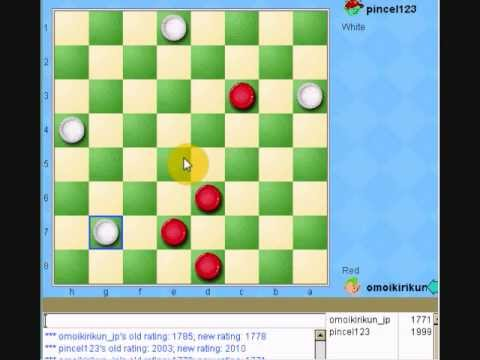 6th checkers game with great American  player in yahoo games USA