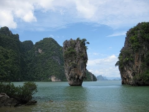 Day trip to Ko Khao Phing Kan also known as James Bond Island (Music: Porch Swing Days - Kevin MacLeod (incompetech.com) Licensed under Creative Commons: By ...