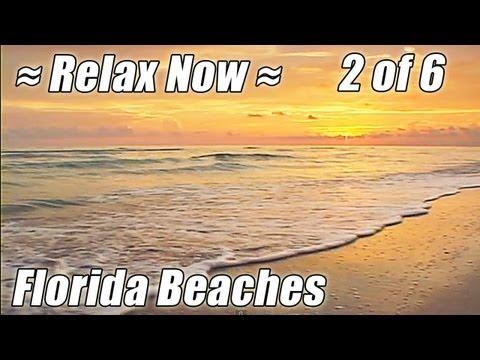 FLORIDA BEACHES #2 Ocean Sounds Meditation Video Relaxation Naples Sanibel Captiva Island