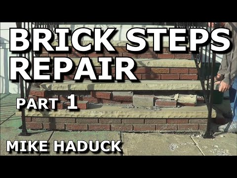 How I Repair Brick Steps Part 1 Of 2 Mike Haduck Youtube