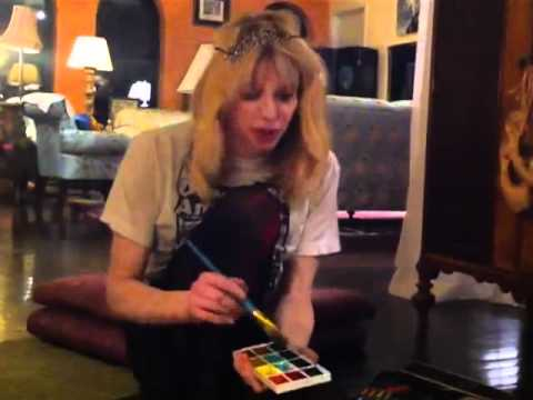 Behind The Scenes with Courtney Love (Art - Painting) 2012
