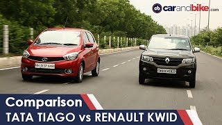 Tata Tiago AMT Vs Renault Kwid AMT Comparison | NDTV CarAndBike