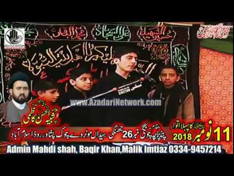 Zakir Ali Kazmi,Mohd Kazmi || Majlis 11 Nov. 2018 Pind Paracha Islamabad ||