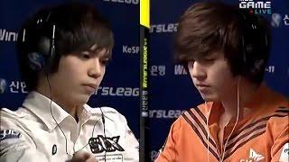 김윤환 vs 김택용 관중들을 들썩이게 하는 역대급 난전 ( Calm vs Bisu )