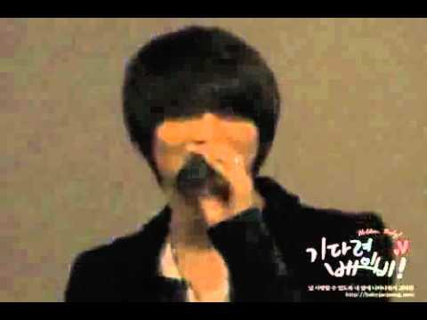 2009 Heaven's Postman Stage Greeting - Jaejoong singing Sarangah