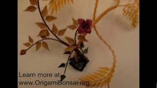 First Generation Origami Ikebana Arrangements