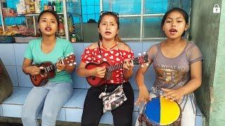 Tiga Gadis Cantik Pengamen Bus Mahir Bermain Okulele Dan Jembe Gendang Afrika