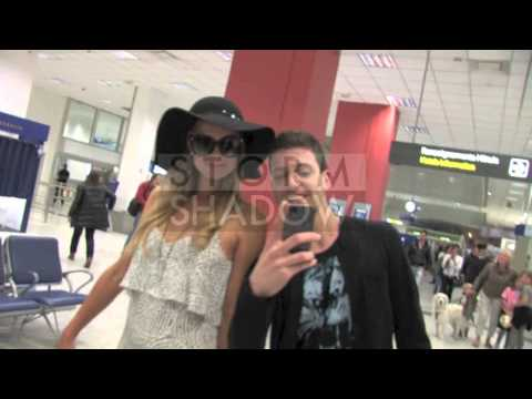 Paris Hilton and boyfriend River Viipera make their arrival at the Cannes Film Festival