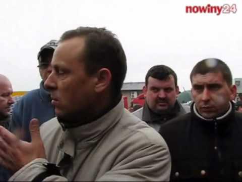 Protest kierowców firmy Omega w Pilźnie