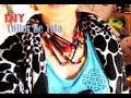 ► Collar de tela con mostacillas ♥