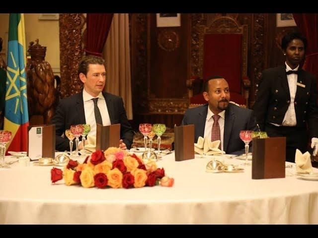Austrian Chancellor Sebastian Kurz's official visit to Ethiopia.